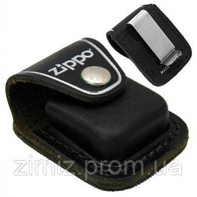 Чехол Zippo черный с клипсой.