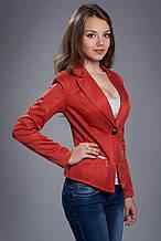 Пиджак женский терракотового цвета на подкладке с длинным рукавом. Код модели Ж-18-20-14
