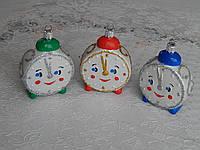 Новогодняя игрушка шар на елку ввиде новогодних часов