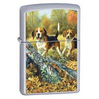 Бензиновая зажигалка Zippo 24411 DOGS HUNT (Собаки на охоте).