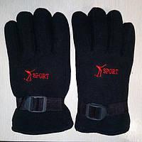 Перчатки Флис с поролоном(черные)