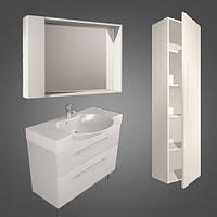 Fancy Marble Комплект мебели для ванной комнаты из 3 предметов, Sumatra 2, Белый