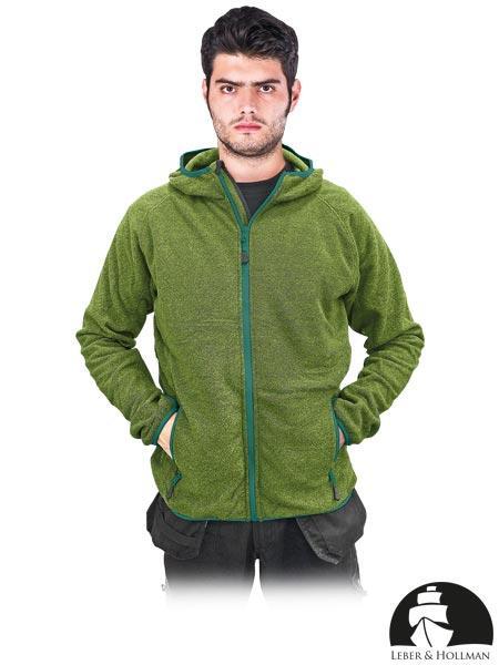 Флисовая кофта мужская рабочая зеленая Leber&Hollman LH-TORTUGA Z