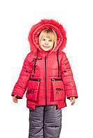 Детский  зимний комбинезон для девочки на рост 122.124.126.128 см