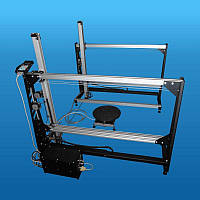 Станок с ЧПУ для фигурной резки пенопласта с рабочим полем 1100х1100х500...2000мм и поворотным столом