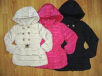 Пальто зимние на девочек оптом, H&S в остатке 134/140, 146\152 рр