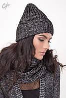 Теплый зимний набор из шапки и шарфа - петли