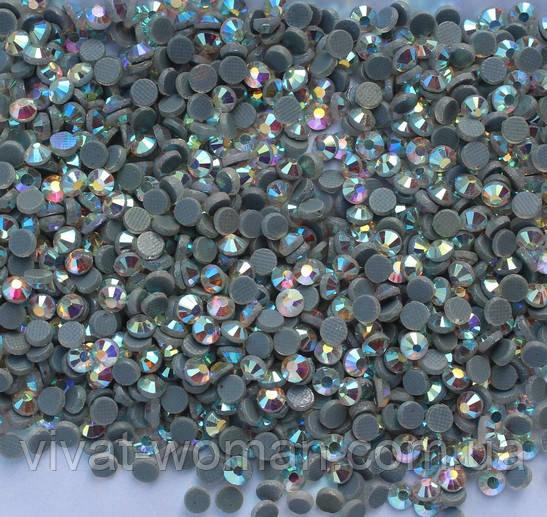 Стразы DMC, Crystal AB SS20 со светлым клеем, термоклеевые. Цена за 144 шт