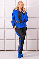 Женский спортивный костюм большого размера Лэсси, цвет электрик  размер 54-64