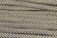 Шнур плоский 15мм (100м) белый+золото, фото 1