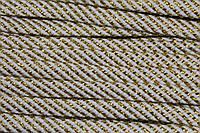 Шнур плоский 15мм (100м) белый+золото