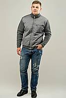 Мужской свитер осенне-весенний на змейке Артем, цвет серый / размерный ряд 50,52