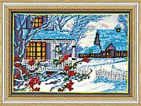 Набор для вышивки бисером на холсте «Зимний вечер»