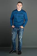 Мужской повседневный свитер Стас, цвет голубой / размерный ряд 48,50,52