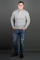 Мужской свитер с круглой горловиной Равиль, цвет серый / размерный ряд 50,52,54