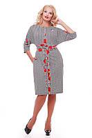 Женское красивое платье Кэтлин, цвет принт размер 52-58 / большие размеры