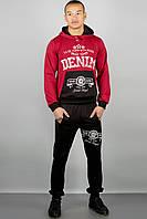 Мужской спортивный костюм свободного кроя Деним, цвет бордо / размерный ряд 46,48,50,52,54