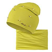 Комплект шапка шарф Бусинка