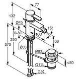 KLUDI ZENTA - Однорычажный смеситель для биде DN 10 с донным клапаном, хром 385300575, фото 2