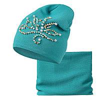 Комплект шапка шарф Венера, фото 1