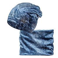 Комплект шапка шарф Велюр, фото 1
