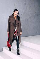 Пальто женское из шерстиД 346 табак