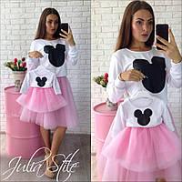 Набор мики с фатиновыми юбками для мамы и дочки