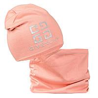 Комплект шапка шарф Тиснение, фото 1