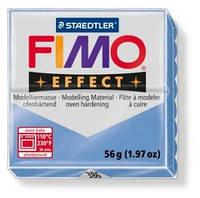 Брусок Fimo Двойной эфект Effect GEMSTONE голубой агат 386 - 56гр., фото 1