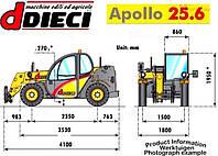 Телескопический погрузчик Dieci Appolo 25.6