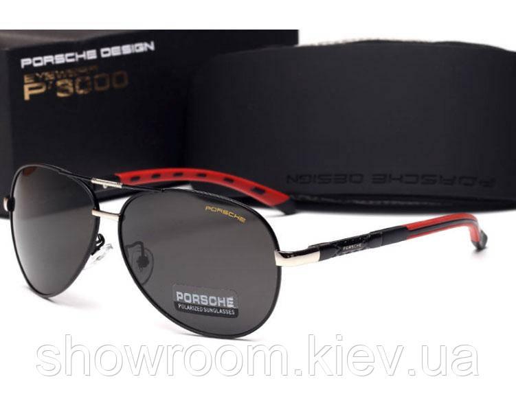 Солнцезащитные очки в стиле Porsche Design c поляризацией (p-8724 new) black