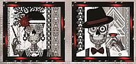 Вечная любовь (СЛТ-2215). Схема для частичной вышивки бисером диптиха. ТМ Миледи