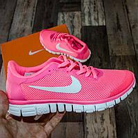 Женские кроссовки для спортзала Nike Free Run 3.0 Pink || Найк Фри Ран