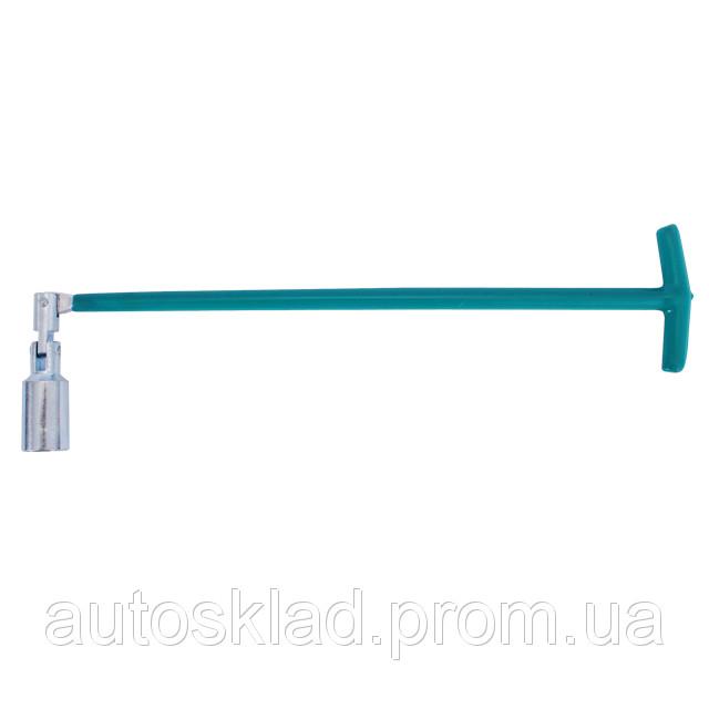 Свечной ключ Т-образный с шарниром 16х500 мм Intertool HT-1718