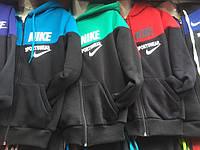 Спортивный костюм на флисе мальчики девочки 8-12лет зимний NIKE Adidas Oliwer