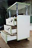 Візок для нарощування вій, три висувних скриньки з бортиками V172, фото 2