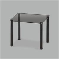Стеклянный обеденный стол Mono P mini G/BL
