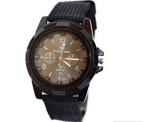 Мужские часы черные с тканевым ремешком (ч-10)