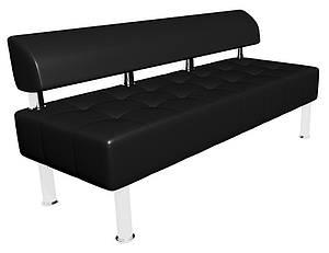 Офисный диван Тонус Sentenzo черный без подлокотников 1400х600 мм