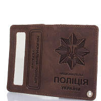 Обложка для паспорта DNK Leather Мужская обложка для документов DNK LEATHER (ДНК ЛЕЗЕР) DNK-Police-H-col.F
