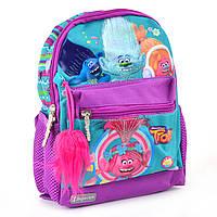 Рюкзак детский mini К-16 TROLLS, 25,5*19,5*6,5, 554367