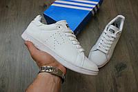 Осенние мужские кроссовки Adidas x Raf Simons Stan Smith White (Топ качество, реплика)