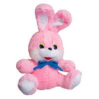 Мягкая игрушка Заяц Степашка большой розовый 75 см