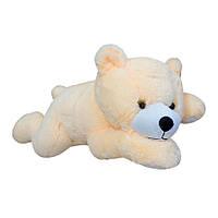 Плюшевый Медведь Соня маленький молочный мягкая игрушка 16х15х42 см
