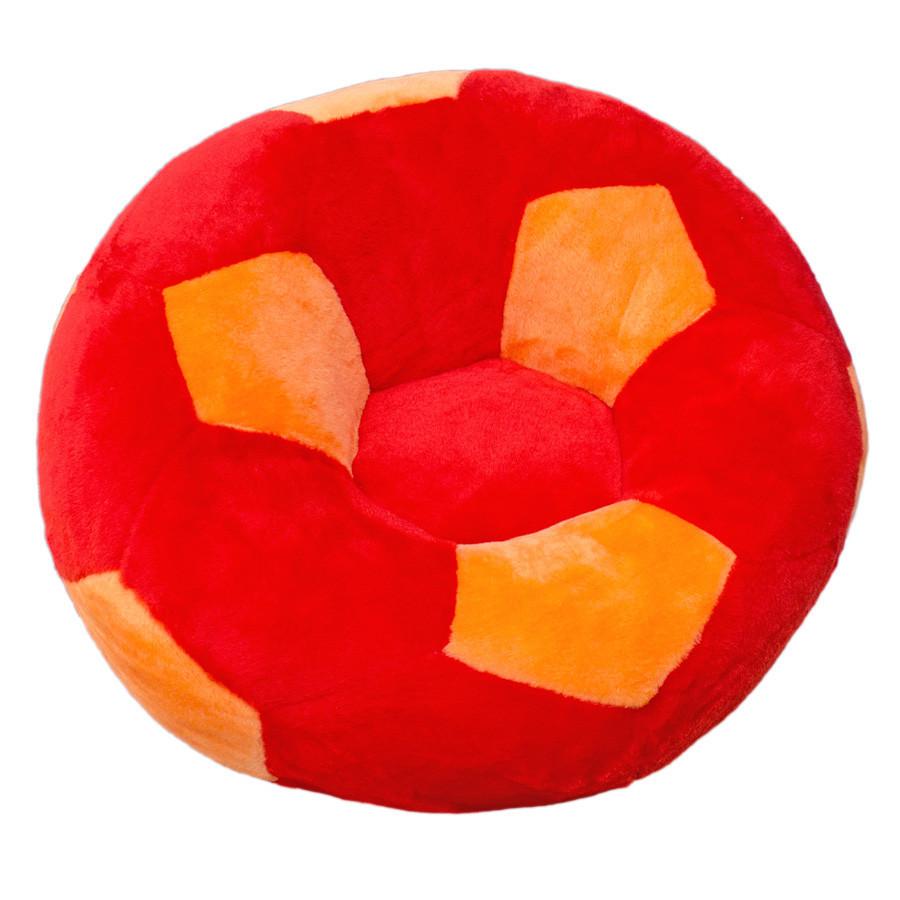 Кресло мягкое детское Мяч большое кресло красно-оранжевое 60 см