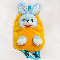 Детский плюшевый рюкзак Заяц желтый 37 см