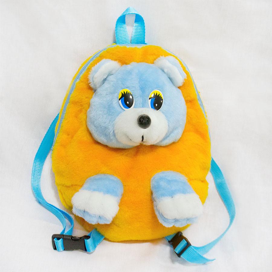 Рюкзак ранец детский Медведь желтый 28 см