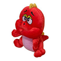 Динозаврик красный мягкая игрушка