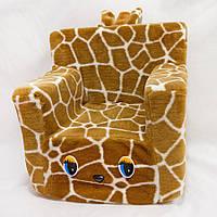 Детское мягкое кресло жаккард жираф