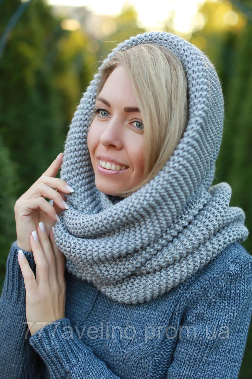 Снуд шарф хомут серый